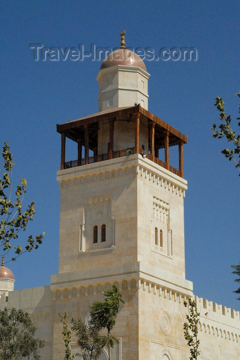 jordan217: Amman - Jordan: King Hussein's Mosque - minaret - photo by M.Torres - (c) Travel-Images.com - Stock Photography agency - Image Bank