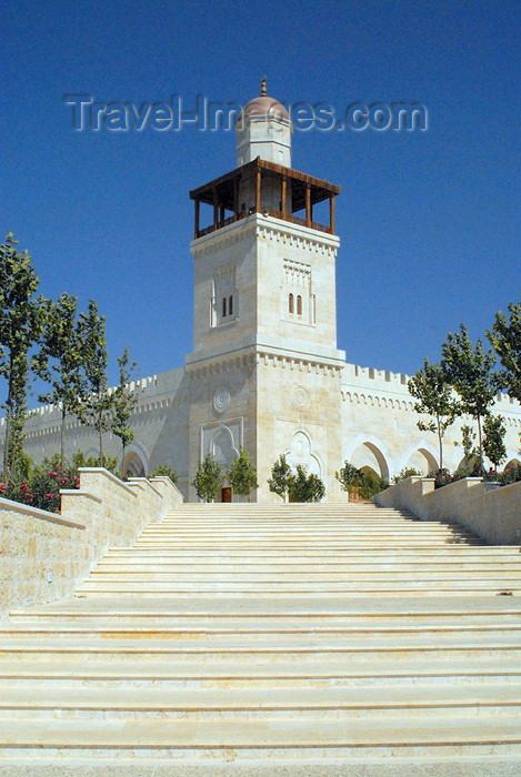 jordan218: Amman - Jordan: King Hussein's Mosque - stairs - photo by M.Torres - (c) Travel-Images.com - Stock Photography agency - Image Bank