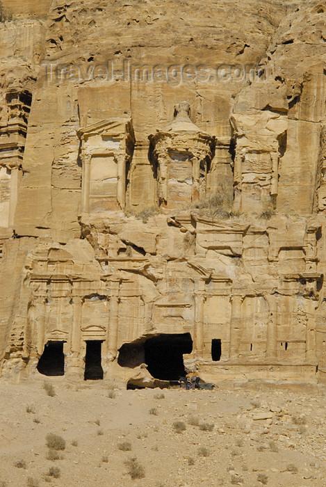 jordan22: Jordan - Petra: Corinthian Tomb, Alexandrian style, like the Khazneh - East Ridge Tombs - photo by M.Torres - (c) Travel-Images.com - Stock Photography agency - Image Bank
