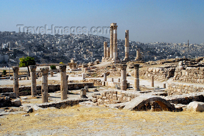 jordan223: Amman - Jordan: Byzantine Church and Temple of Hercules - citadel - photo by M.Torres - (c) Travel-Images.com - Stock Photography agency - Image Bank