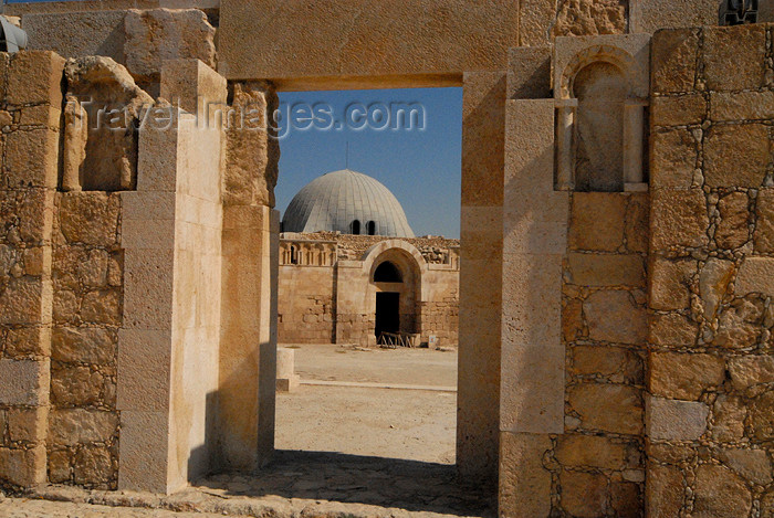 jordan231: Amman - Jordan: gate of Umayyad mosque and dome of the Umayyad palace - citadel - photo by M.Torres - (c) Travel-Images.com - Stock Photography agency - Image Bank