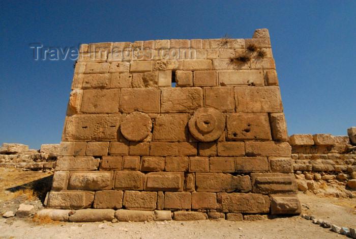 jordan240: Amman - Jordan: tower constructed of bossed masonry - citadel - photo by M.Torres - (c) Travel-Images.com - Stock Photography agency - Image Bank
