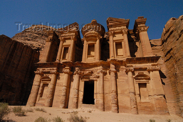 jordan243: Jordan - Petra: Ad Deir - the Monastery - probably dedicated to the cult of Obodas I - UNESCO world heritage site - photo by M.Torres - (c) Travel-Images.com - Stock Photography agency - Image Bank