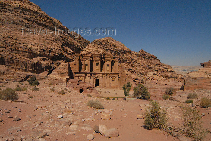 jordan246: Jordan - Petra: Ad Deir and its cliff - the Monastery - UNESCO world heritage site - photo by M.Torres - (c) Travel-Images.com - Stock Photography agency - Image Bank