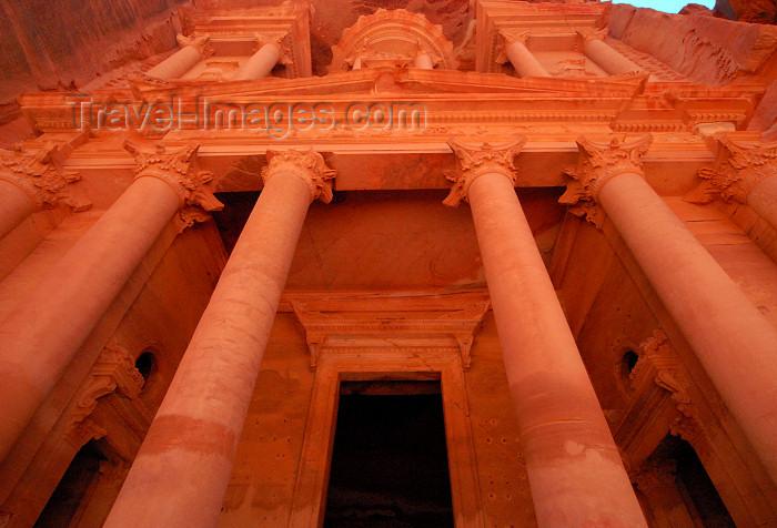 jordan253: Jordan - Petra: Khazneh - Treasury - the portico - UNESCO world heritage site - photo by M.Torres - (c) Travel-Images.com - Stock Photography agency - Image Bank
