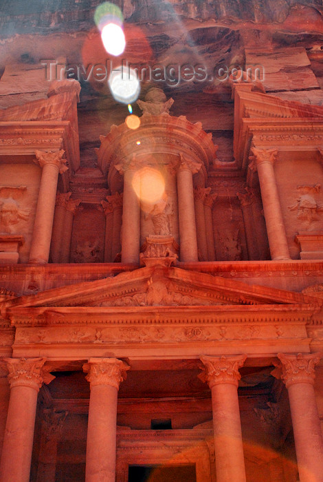 jordan255: Jordan - Petra: Khazneh - Treasury - at noon - UNESCO world heritage site - photo by M.Torres - (c) Travel-Images.com - Stock Photography agency - Image Bank