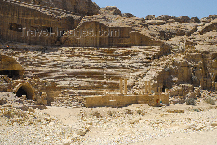 jordan270: Jordan - Petra: the Theatre - photo by M.Torres - (c) Travel-Images.com - Stock Photography agency - Image Bank