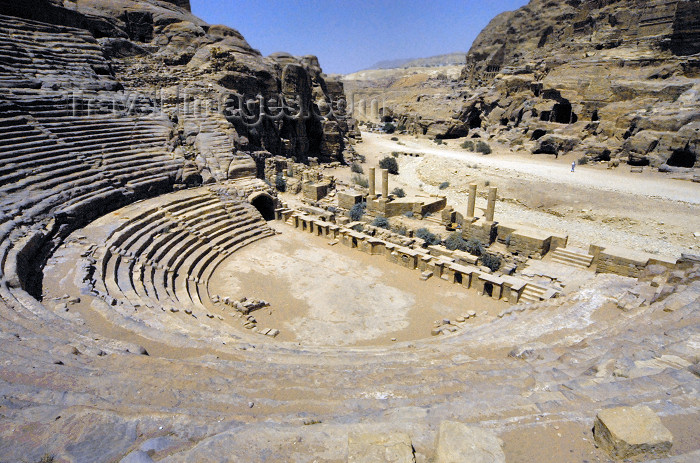 jordan272: Jordan - Petra: the Theatre - from above - photo by M.Torres - (c) Travel-Images.com - Stock Photography agency - Image Bank