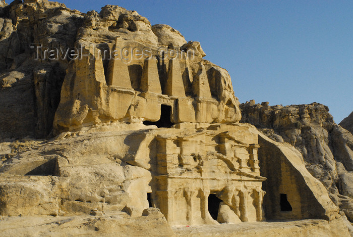 jordan274: Jordan - Petra: Tomb of the Obelisks on Bab-as-Siq - photo by M.Torres - (c) Travel-Images.com - Stock Photography agency - Image Bank