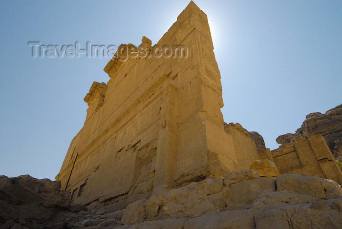 jordan289: Jordan - Petra:  Qasr al-Bint Firaun - side wall - photo by M.Torres - (c) Travel-Images.com - Stock Photography agency - Image Bank