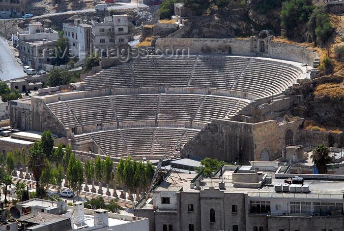 jordan29: Amman - Jordan: Roman theatre seen from Qala hill - Jabal al-Qal'a - photo by M.Torres - (c) Travel-Images.com - Stock Photography agency - Image Bank