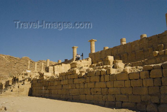 jordan291: Jordan - Petra: Great Temple - photo by M.Torres - (c) Travel-Images.com - Stock Photography agency - Image Bank