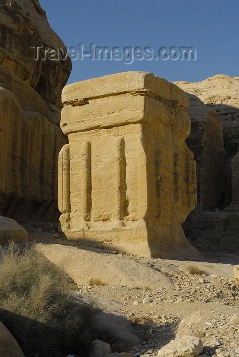 jordan294: Jordan - Petra: Djinn block - Bab-as-Siq - photo by M.Torres - (c) Travel-Images.com - Stock Photography agency - Image Bank