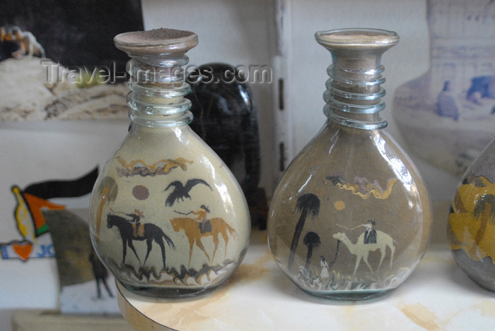 jordan298: Jordan - Petra: bottled sand art - photo by M.Torres - (c) Travel-Images.com - Stock Photography agency - Image Bank