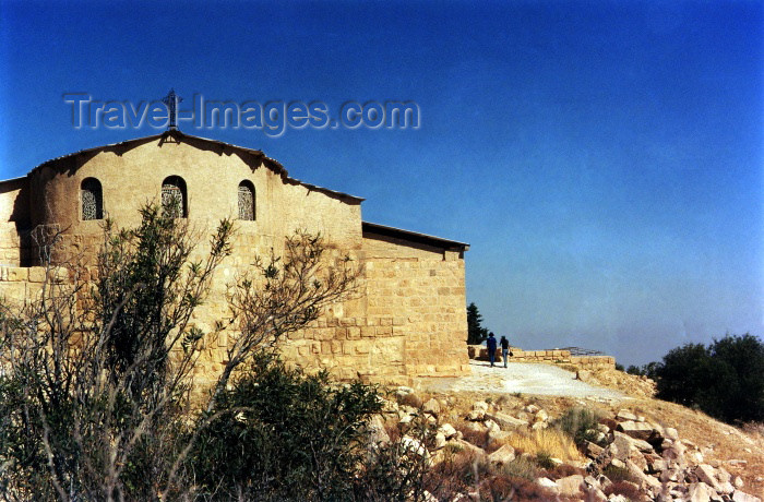 jordan37: Mount Nebo, Faysaliyah - Madaba governorate - Jordan: Franciscan building protecting the Byzantine basilica - photo by J.Rabindra - (c) Travel-Images.com - Stock Photography agency - Image Bank