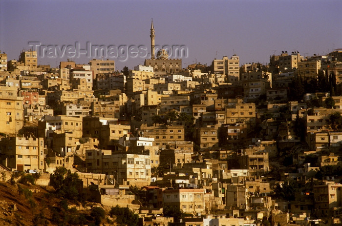 jordan54: Jordan - Amman / AMM /ADJ: Abu Darvish - Abu Darwish mosque and the city - photo by J.Wreford - (c) Travel-Images.com - Stock Photography agency - Image Bank