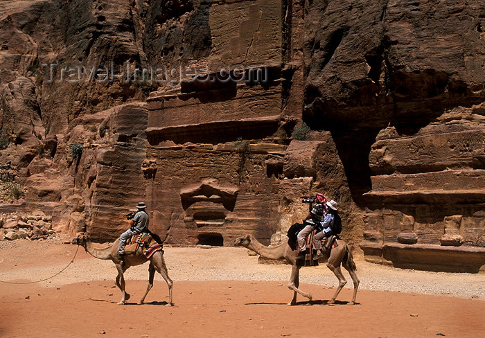 jordan58: Jordan - Petra: tourists on camels - photo by J.Wreford - (c) Travel-Images.com - Stock Photography agency - Image Bank
