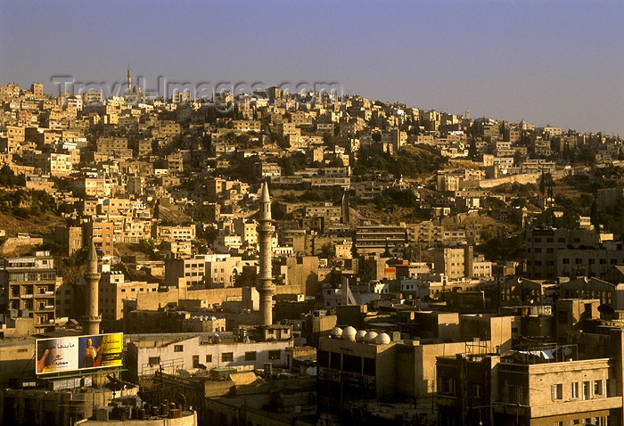 jordan7: Jordan - Amman / AMM /ADJ: building on the slope - photo by J.Wreford - (c) Travel-Images.com - Stock Photography agency - Image Bank