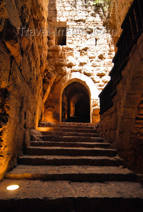 jordan71: Ajlun - Jordan: Ajlun castle - stairs - photo by M.Torres - (c) Travel-Images.com - Stock Photography agency - Image Bank
