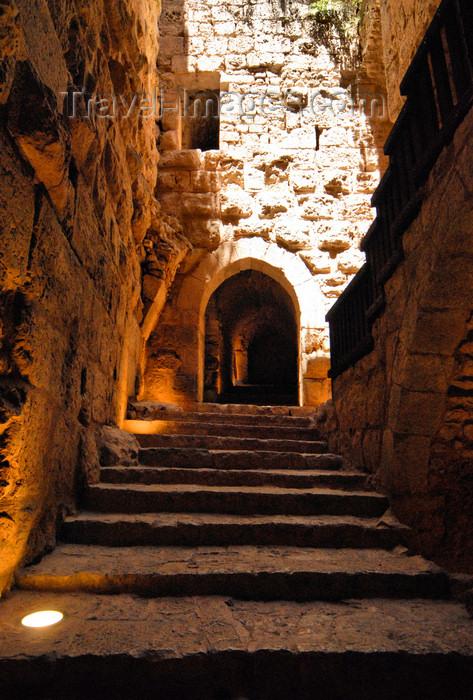 jordan71: Ajlun - Jordan: Ajlun castle - stairs - photo by M.Torres - (c) Travel-Images.com - Stock Photography agency - Image Bank