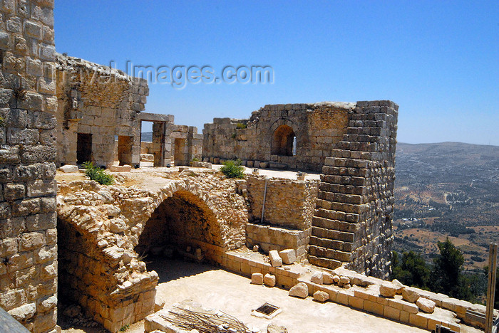 jordan77: Ajlun - Jordan: Ajlun castle - ruins and the Ajlun valley - photo by M.Torres - (c) Travel-Images.com - Stock Photography agency - Image Bank