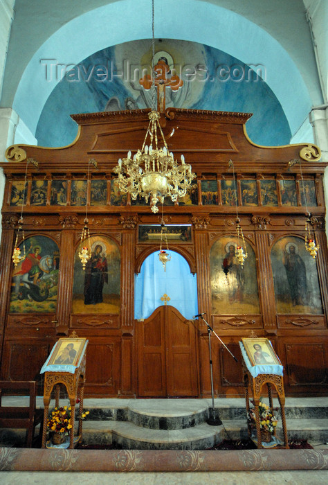 jordan87: Madaba - Jordan: iconostasis / templon - Greek Orthodox Church of St. George - photo by M.Torres - (c) Travel-Images.com - Stock Photography agency - Image Bank