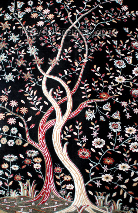 jordan95: Madaba - Jordan: trees - carpet detail - photo by M.Torres - (c) Travel-Images.com - Stock Photography agency - Image Bank