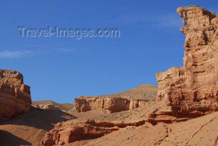 kazakhstan102: Kazakhstan, Charyn Canyon: Valley of the Castles - gorge and sky - photo by M.Torres - (c) Travel-Images.com - Stock Photography agency - Image Bank