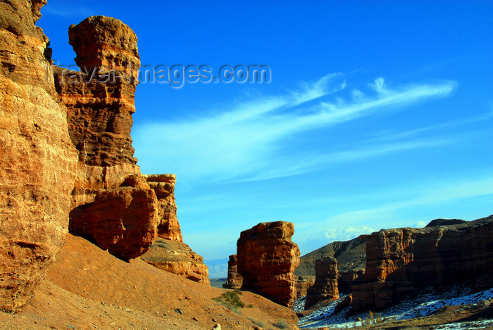 kazakhstan106: Kazakhstan, Charyn Canyon: Valley of the Castles - the fantastic rock formations remind the landscapes of Arizona - photo by M.Torres - (c) Travel-Images.com - Stock Photography agency - Image Bank