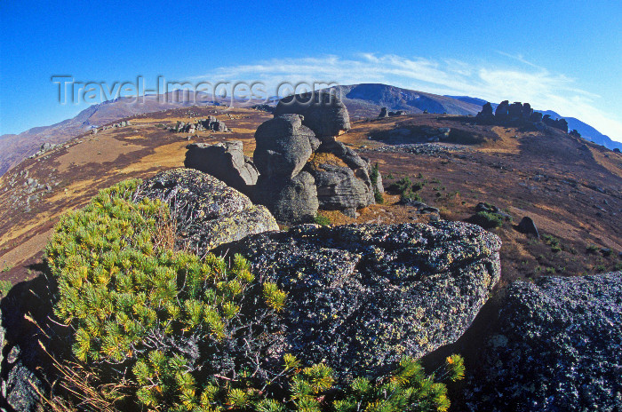 kazakhstan11: Kazakhstan, Altay Mountains: rock island - fish eye view - photo by V.Sidoropolev - (c) Travel-Images.com - Stock Photography agency - Image Bank