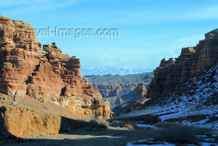 kazakhstan120: Kazakhstan, Charyn Canyon: Valley of the Castles - entering the gorge - photo by M.Torres - (c) Travel-Images.com - Stock Photography agency - Image Bank
