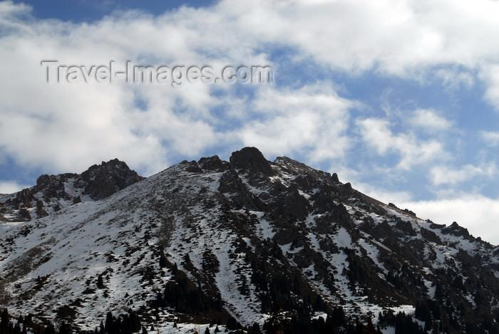 kazakhstan129: Kazakhstan - Chimbulak ski-resort, Almaty: Alatau Mountains - a peak - photo by M.Torres - (c) Travel-Images.com - Stock Photography agency - Image Bank