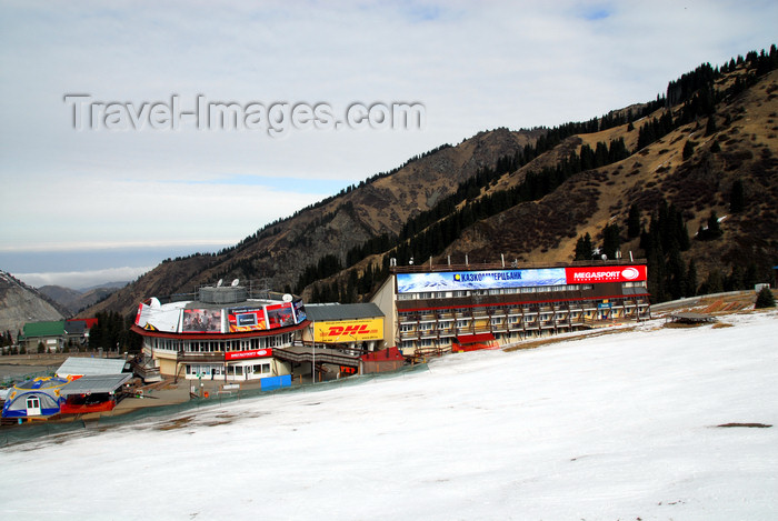 kazakhstan131: Kazakhstan - Chimbulak ski-resort, Almaty: hotel and restaurant seen from the slope - photo by M.Torres - (c) Travel-Images.com - Stock Photography agency - Image Bank