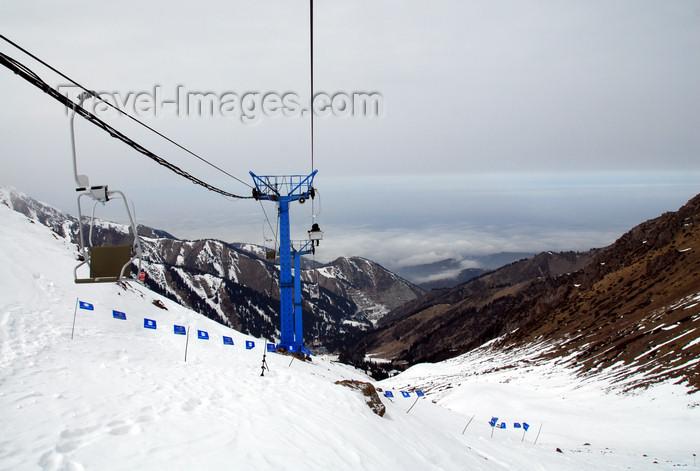 kazakhstan148: Kazakhstan - Chimbulak ski-resort, Almaty: little Almaty gorge seen from the Talgar crossing - photo by M.Torres - (c) Travel-Images.com - Stock Photography agency - Image Bank