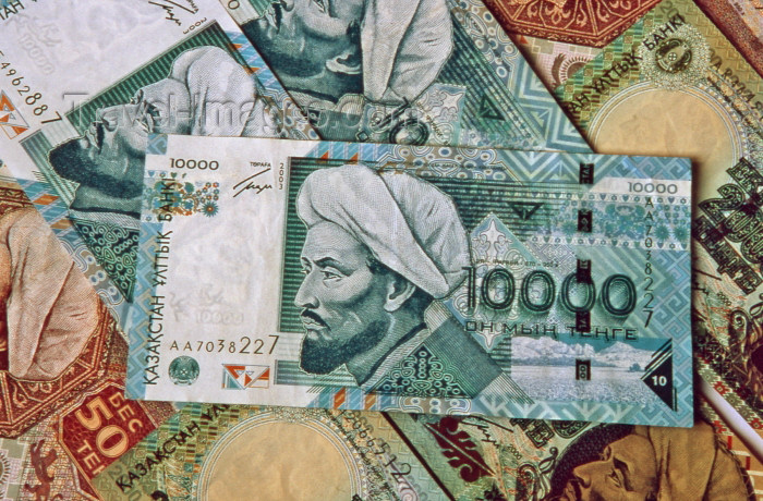kazakhstan16: Kazakhstan: Kazakhstan: Kazak currency - 10.000 Tenge bank note showing Abu Nasr al-Farabi / Alpharabius /Farabi / Abunaser, Muslim philosopher and scientist - paper money - photo by V.Sidoropolev - (c) Travel-Images.com - Stock Photography agency - Image Bank