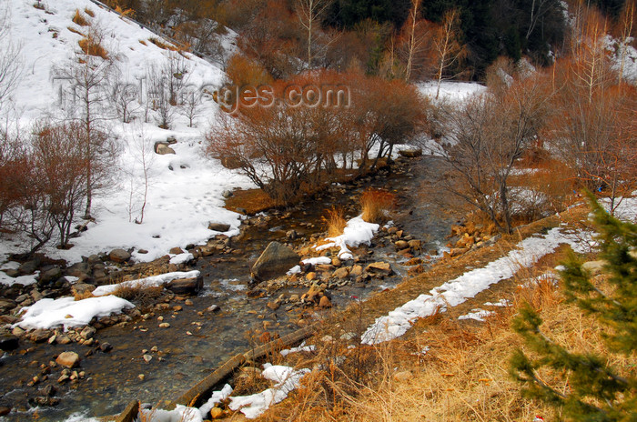 kazakhstan160: Kazakhstan,Medeu ice stadium, Almaty: the Small Almaty river - photo by M.Torres - (c) Travel-Images.com - Stock Photography agency - Image Bank