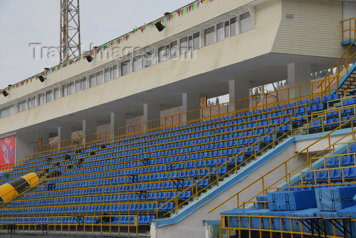 kazakhstan161: Kazakhstan,Medeu ice stadium, Almaty: spectator area - bleachers - photo by M.Torres - (c) Travel-Images.com - Stock Photography agency - Image Bank