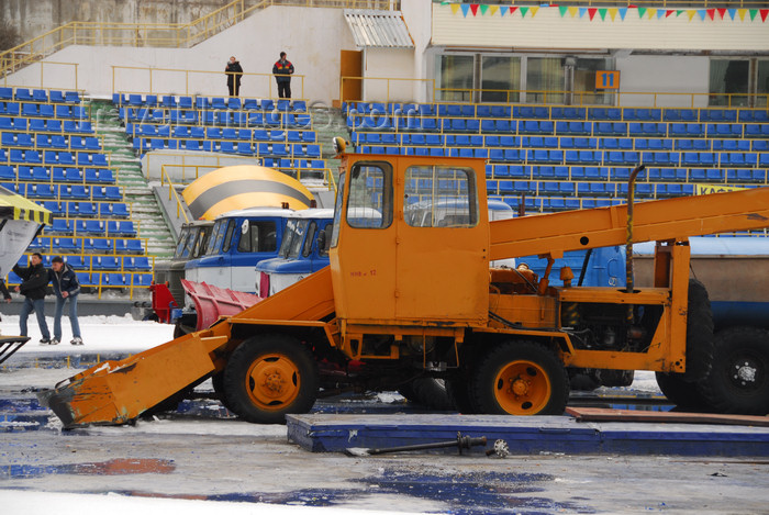 kazakhstan162: Kazakhstan,Medeu ice stadium, Almaty: ice preparation equipment - photo by M.Torres - (c) Travel-Images.com - Stock Photography agency - Image Bank