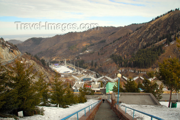 kazakhstan164: Kazakhstan,Medeu ice stadium, Almaty: Small Almaty gorge - photo by M.Torres - (c) Travel-Images.com - Stock Photography agency - Image Bank