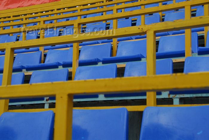 kazakhstan167: Kazakhstan,Medeu ice stadium, Almaty: seating - photo by M.Torres - (c) Travel-Images.com - Stock Photography agency - Image Bank