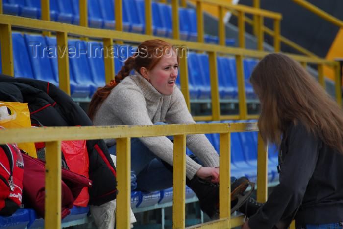 kazakhstan169: Kazakhstan,Medeu ice stadium, Almaty: getting ready - photo by M.Torres - (c) Travel-Images.com - Stock Photography agency - Image Bank