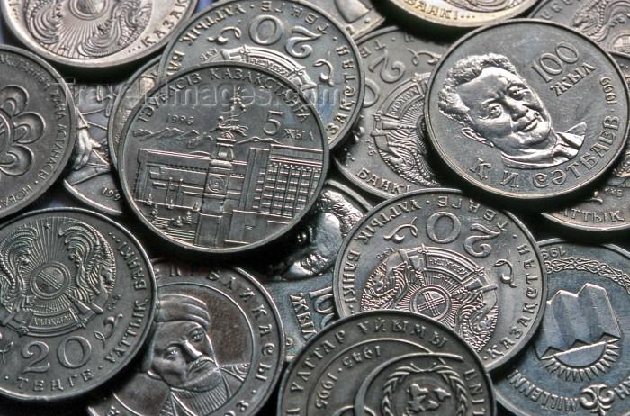kazakhstan17: Kazakhstan: Kazak currency - Tenge (KZT) coins - money - photo by V.Sidoropolev - (c) Travel-Images.com - Stock Photography agency - Image Bank