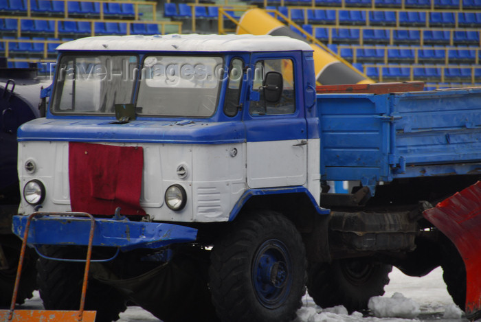 kazakhstan170: Kazakhstan,Medeu ice stadium, Almaty: Russian truck - photo by M.Torres - (c) Travel-Images.com - Stock Photography agency - Image Bank