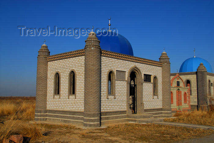kazakhstan175: Kazakhstan, Shelek, Almaty province: Muslim cemetery - mosque inspired tomb - photo by M.Torres - (c) Travel-Images.com - Stock Photography agency - Image Bank