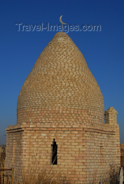 kazakhstan178: Kazakhstan, Shelek, Almaty province: Muslim cemetery - beehive shaped tomb - photo by M.Torres - (c) Travel-Images.com - Stock Photography agency - Image Bank