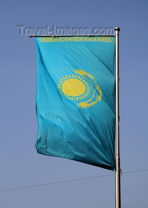 kazakhstan198: Kazakhstan, Almaty: Kazakh flag -  Zheltoksan - photo by M.Torres - (c) Travel-Images.com - Stock Photography agency - Image Bank