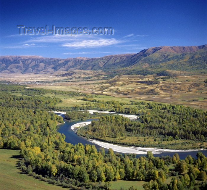kazakhstan21: Kazakhstan - Buhtarma river - East Kazakhstan oblys: flowing from the Altai mountains - meander - photo by V.Sidoropolev - (c) Travel-Images.com - Stock Photography agency - Image Bank