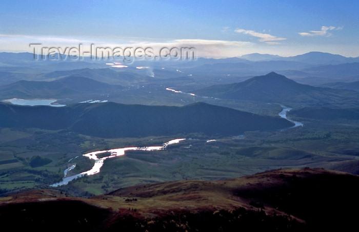 kazakhstan22: Kazakhstan - Buhtarma river - from the air - photo by V.Sidoropolev - (c) Travel-Images.com - Stock Photography agency - Image Bank