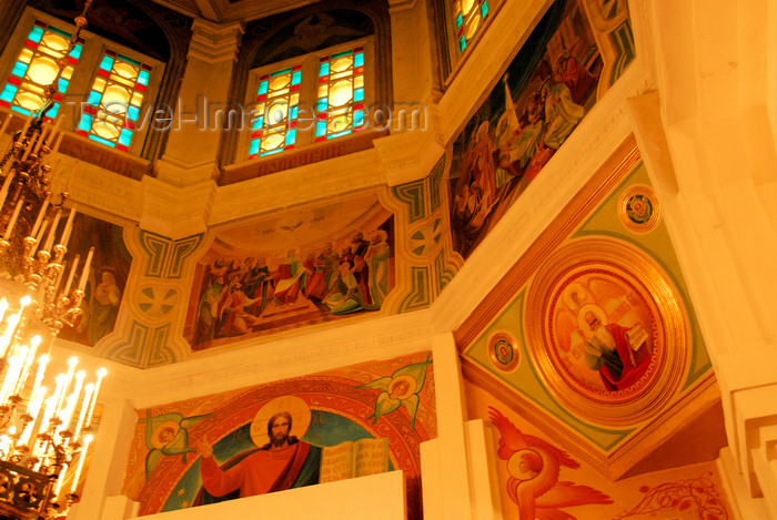 kazakhstan239: Kazakhstan, Almaty:  Holy Ascension Russian Orthodox Cathedral - dome interior - photo by M.Torres - (c) Travel-Images.com - Stock Photography agency - Image Bank