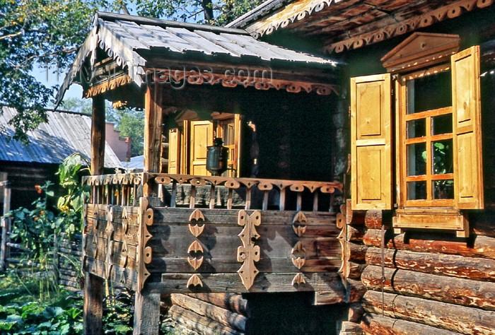 kazakhstan24: Kazakhstan -  Öskemen / Ust-Kamenogorsk: Ethnographical museum - porch with samovar - capital of the Shyghys Qazaqstan (Eastern Kazakhstan) Oblast - photo by V.Sidoropolev - (c) Travel-Images.com - Stock Photography agency - Image Bank